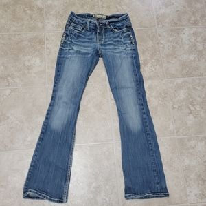 BKE Denim 27 x 31 1/2 Stretch Jeans Faded Look